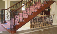 Open Stair with Metal Balusters