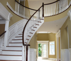 Round Staircase with Railing
