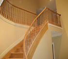 All Oak Stair with Hollow Balusters