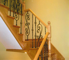 Split Stair with Metal Balusters