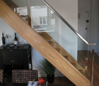 Box Stair with Metal Rail and Glass Panel