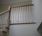 Straight Stair and Floor Railing